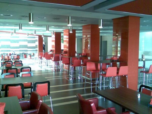 Étterem belső kialakítása
