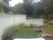 Pontmegfogásos kerti mellvédkorlát