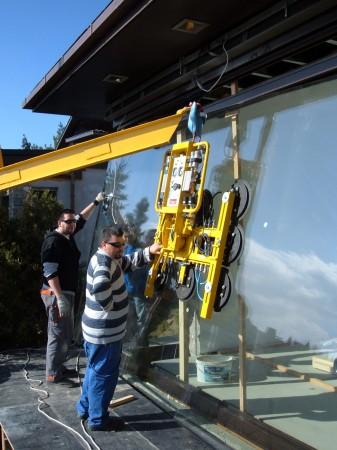 Nagyméretü üvegek beépítése 3