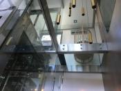 Liftház + üvegfödém