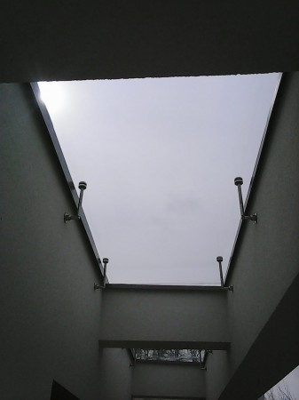 Felső üveglezárás, alulról